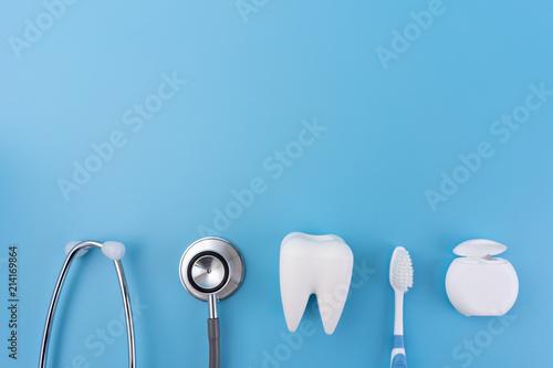 Photo  healthy dental equipment  tools for dental care Professional  Dental concept
