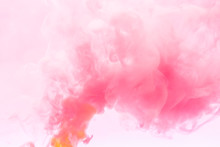 Pink Smoke Abstract On White B...