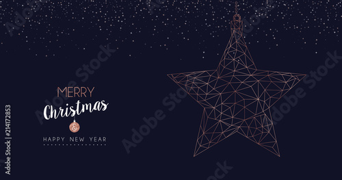 christmas and new year luxury star web banner