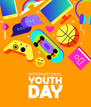 Youth Day Card Of Fun Teen Act...