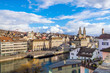 Beautiful view of the historic city center of Zurich