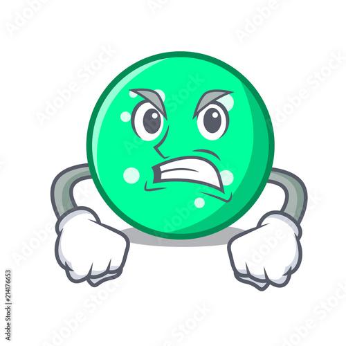 Angry circle mascot cartoon style Wallpaper Mural