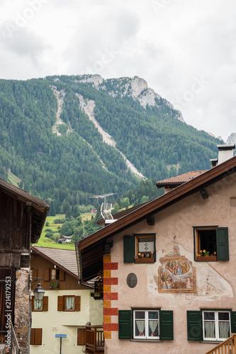 Poster Bergen Scorci di Moena, Val di Fassa, Trento, Trentino Alto Adige, Italia