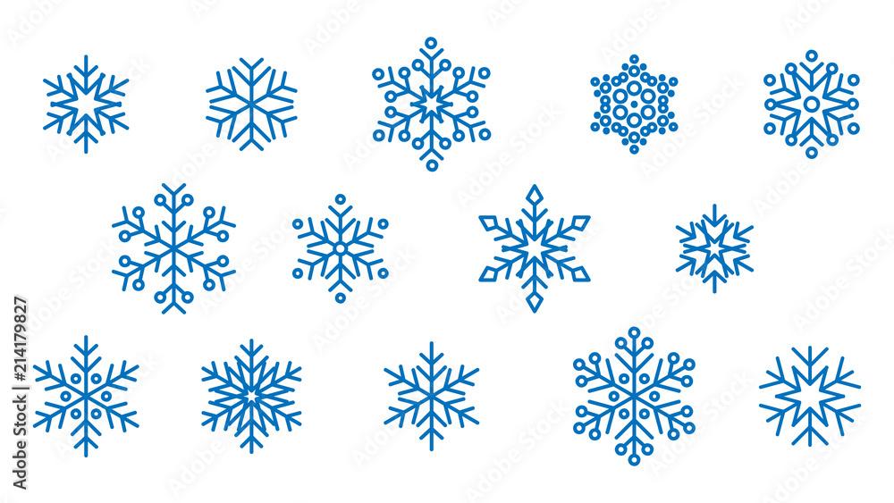 Fototapeta płatki śniegu wektor