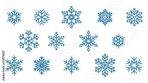 Fototapeta płatki śniegu wektor obraz