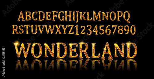 Photo Wonderland font. Fairy ABC