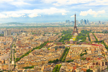 Aerial View Of Tour Eiffel And...