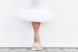 Crossed legs of ballerina