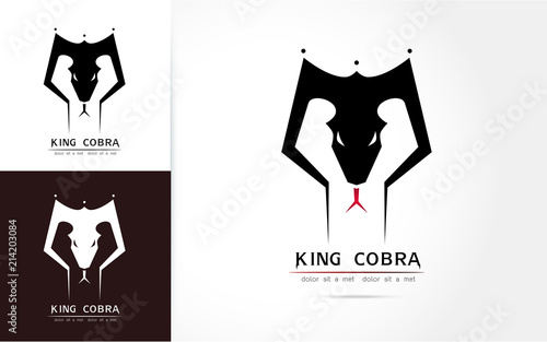 Cobra snake logo  template Vector illustration Fototapeta