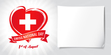 Swiss National Day, Poster Wit...