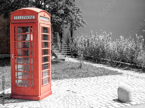 Obraz na plátně Englische Telefonzelle