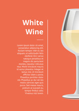 White Wine Promotional Poster With Wineglass Text