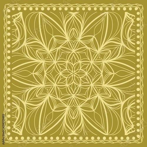 Photo Design print for kerchief
