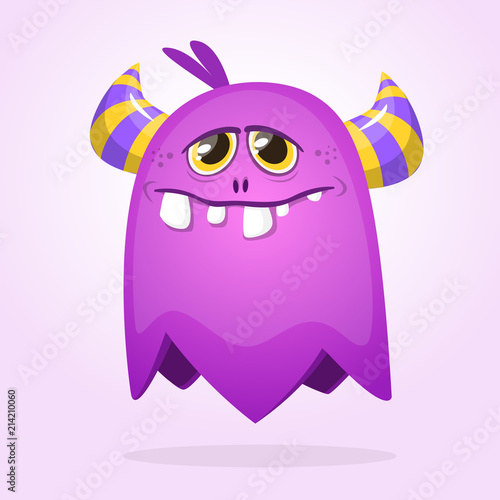 Purple Cartoon Monster With Horns Big Collection Of Cute Monsters Buy This Stock Vector And Explore Similar Vectors At Adobe Stock Adobe Stock