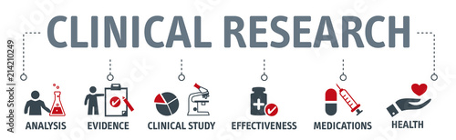Fotografia  Banner clinical resarch concept