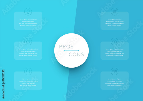 2 step pros and cons list infographic template buy this stock