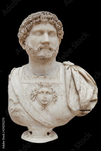 Hadrian dressed in military garb, Seville, Spain Fototapet
