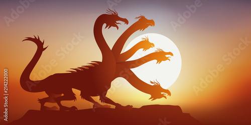 Fototapeta hydre - mythologie - animal - imaginaire - fantastique - légende - mythique - cr