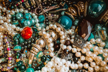 Jewels As Background. Jewelery Texture