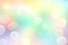 Rainbow Colors Blurred Background.