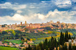 Panorama of Orvieto clouds in the afternoon
