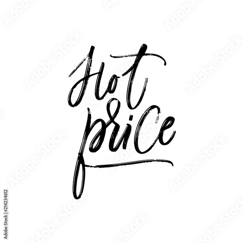 Hot Price Hand Lettering Dry Brush Trace Artistic Calligraphy On