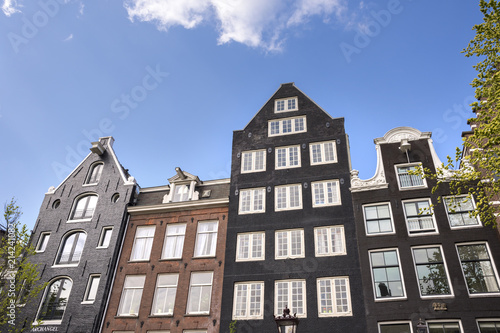 Photo  palaces and architecture in Amdterdam in the Netherlands