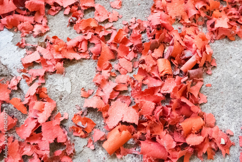 firecracker paper on ground floor Canvas Print