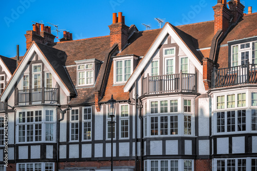 Photo  Tudor Revival style houses around Chelsea in London