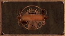 Steampunk Vintage Frame, Banne...