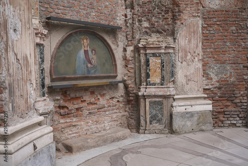 Poster  Milan, Italy - July 12, 2018 : View of the Madonna dei Miracoli chapel