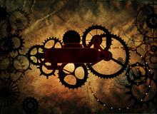 Steampunk Vintage Metal Frame ...