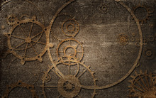 Vintage Steampunk Background, ...