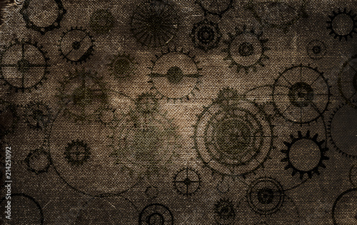 vintage-steampunk-tlo-kol-zebatych-i-narzedzi-na-stary-papier-plotnie-grunge
