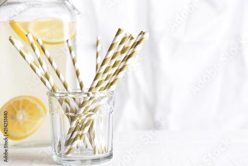 Photo Drinking Straws and Lemonade Pitcher
