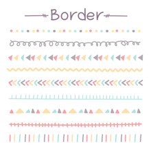 Set Of Colorful Doodle Borders...