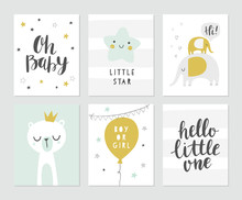 Baby Shower Vector Card Design...