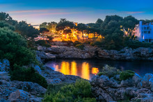 Night Scene In Cala Dor Region...