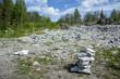 Famous marble quarry Ruskeala in Karelia.