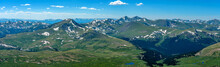 Spring At Top Of Colorado Rockies - A Panoramic Spring View Of Rolling High Mountains Of Front Range Of Rocky Mountains, Looking Northwest From Summit Of Mount Bierstadt, 14,065 Ft. CO, USA.