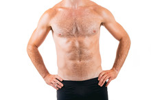 Muscular Hairy Male Chest Isol...