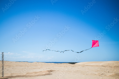 Photo kite flying on sand dune