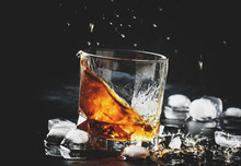 Whiskey With Ice, Splashes Out...