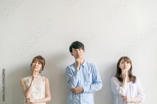 Fotografie, Obraz  悩む男女