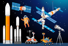Vector Cartoon Space Explorat...