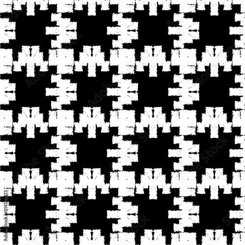 Poster Pixel Ethnic boho seamless pattern. Traditional ornament. Geometric background. Tribal pattern. Folk motif. Textile rapport.