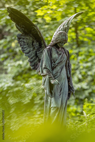 Canvas Prints Cemetery Engelsstatue