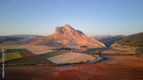 Sunset on the Lovers' Rock, Antequera, Andalusia, Spain