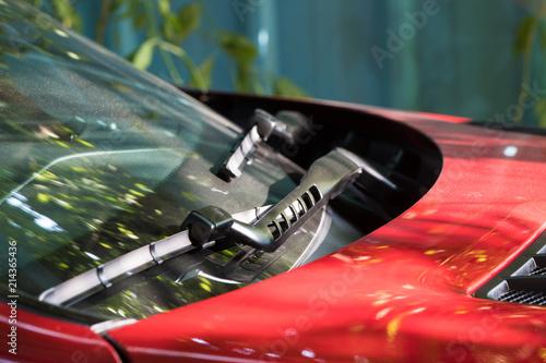 Fototapeta  red car bonnet