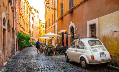 Cozy street in Trastevere, ...